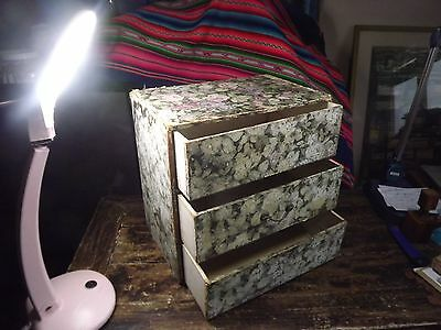 Antique Table Top Wallpaper & Painted Distressed Chest Drawers Beautifully Fayee