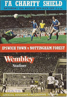 Ipswich Town v Nottingham Forest - Charity Shield - 1978 - Football Programme