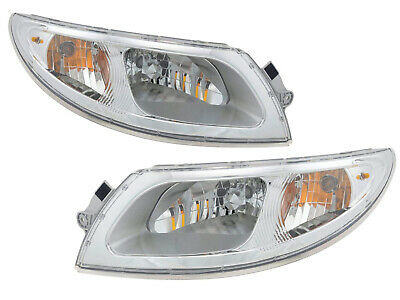 Headlight Headlamp Pair Set International Truck 4100 4200 4300 4400 8500 8600