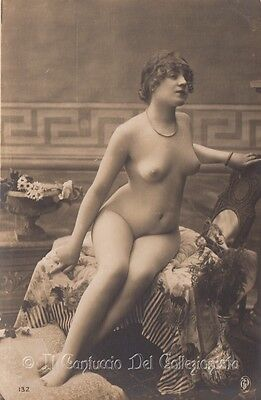 Risque Nude Lady real old photo erotic art deco Erotismo Foto Nudo donna CBAB20