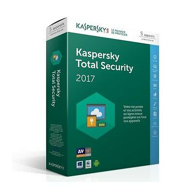 Kaspersky Total Security 2017 5 Postes / 1 An