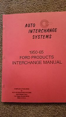 Ford Mercury Lincoln parts interchange manual 1950 - 1965 Illustration Catalog