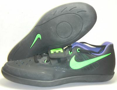 New Nike Zoom SD 4 Shot Put Discus Throw Track & Field Shoes Sz 12.5 Black Green