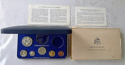 ✔ RARE 1976 Barbados Proof Set Franklin Mint, 6 Coins Total No Silver, Only 12K!