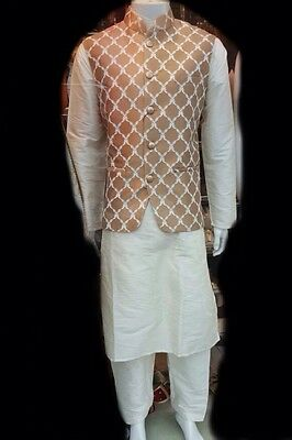 Father & Son Salwar Kameez Suit With Waistcoat