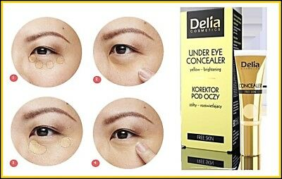 Delia Cosmetics Under Eye Concealer Yellow - Brightening Free Skin 10 ml