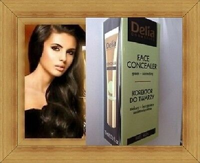 Delia Face Concealer Green Tone Correcting Free Skin with Chestnut Extract 10ml