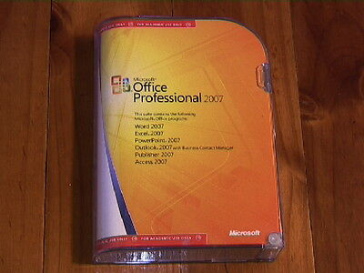 Microsoft Office Professional 2007 - Boxed Software-Original Microsoft
