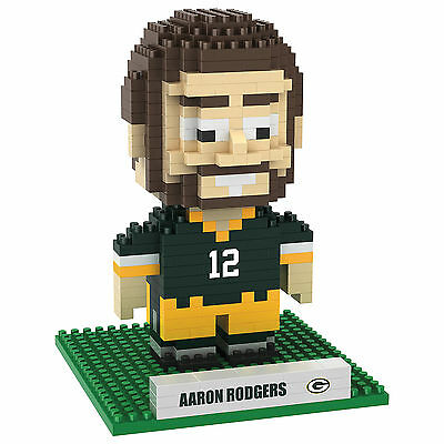 BRXLZ Aaron Rodgers #12 NFL Green Bay Packers 3-D Construction Toy 418 pcs