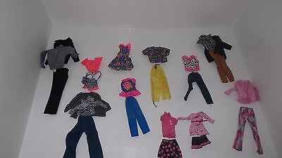 24 piece lot barbie doll and generic doll clothes