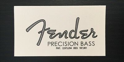 50's style Fender Precision Bass Headstock Waterslide Decal