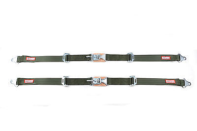 "Restomod Pair 2"" Latch & Link Seat Belt 2 Point Racing Lap Belts Military Green"