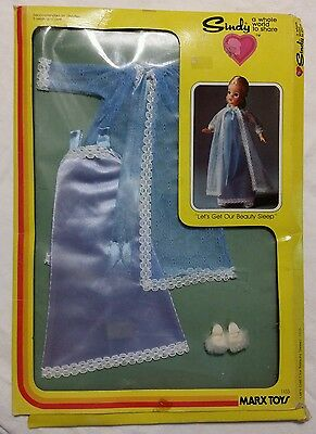 Vintage 1978 Marx Toys Sindy Doll Nightgown #1103 Let's Get Our Beauty Sleep MIB