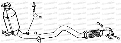Alfa 147 1.6 937 Twin Spark Hatchback 103 04-07 Exhaust Catalytic Converter