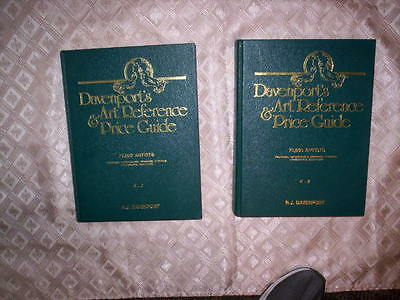 DAVENPORT'S ART REFERENCE AND PRICE GUIDE, 2 Volumes, HB, 1989, Ray Davenport