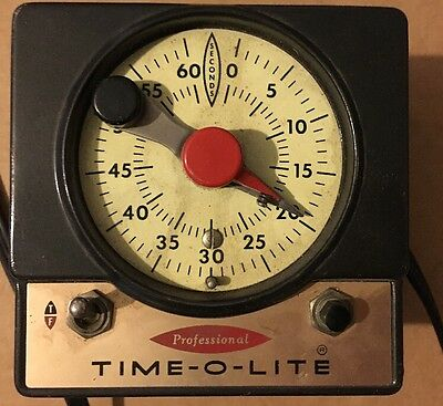 TIME- O-LITE P-72 deluxe Professional  dark room 60 Second Timer