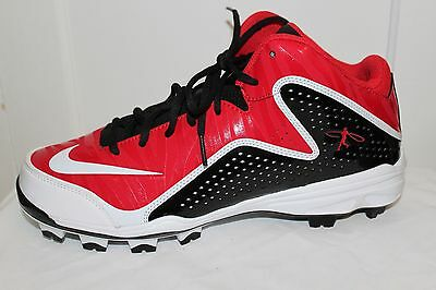 Nike Air Swingman Molded Baseball Cleats Red Youth MVP Mid 3/4 MSRP $75 NEW