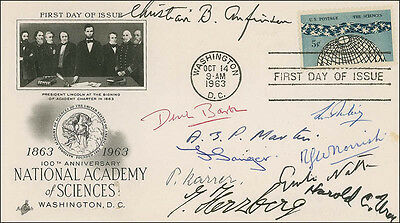 Derek Barton - First Day Cover Signed With Co-Signers