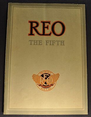 1913 Reo The Fifth Catalog Sales Brochure Nice Original 13