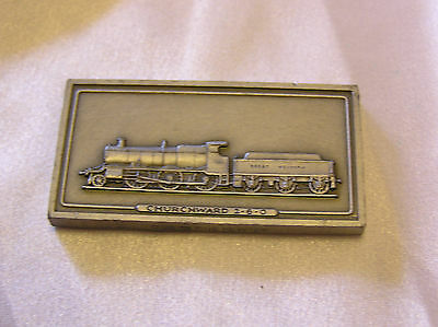 SOLID PEWTER INGOT of the CHURCHWARD 2-6-0 LOCOMOTIVE