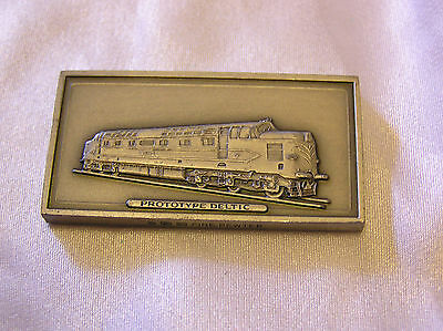 SOLID PEWTER INGOT of the PROTOTYPE DELTIC LOCOMOTIVE