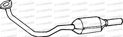 Fiat Cinquecento 1.1 Sporting Hatchback 95-98 Exhaust Catalytic Converter