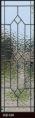"Leaded Glass Sidelight glass/ Transom / window   12 "" x  48"" Free shipping"