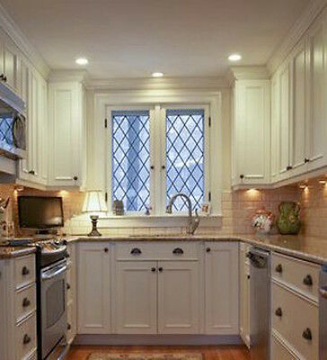 Leaded glass Diamond windows with Texture glass  all sizes  make to order