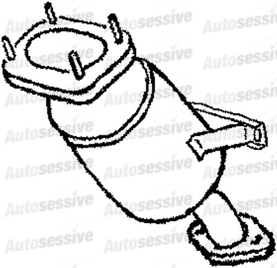 Jaguar X Type 01 10 3 0 V6 Front Catalytic Converter 1x435e212al