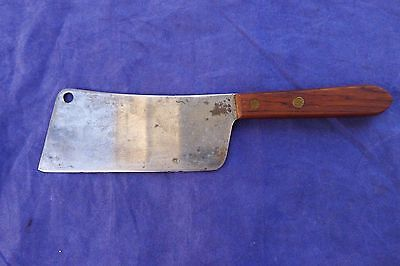 """Vintage Robinson Knife Co? Meat Cleaver USA 5 1/2"""" Blade. See Pics"""
