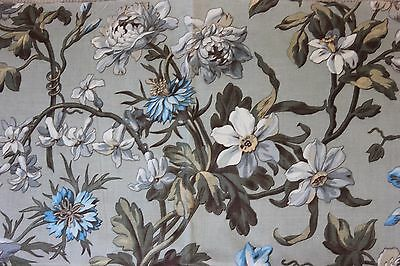 "Lovely French Victorian Botanical Home Dec Textile Fabric Sample~19""L X 31""W"