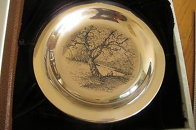 James Wyeth 1972 Solid Sterling Silver Plate Limited Edition Franklin Mint