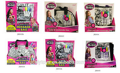 Girls Colour Your Own Backpack Doodle Rucksack School Bag 4 Markers NEW