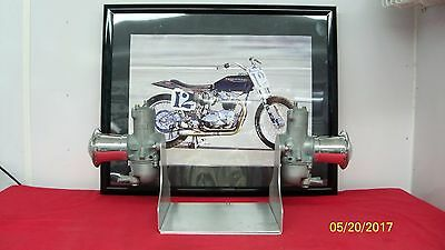 Triumph Bsa Norton Matchless Velocette Original Vintage Amal Carb Bookends
