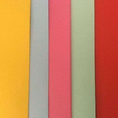 20 x A4 100gsm Assorted Kaskad Coloured Paper - craft / stationary / stock