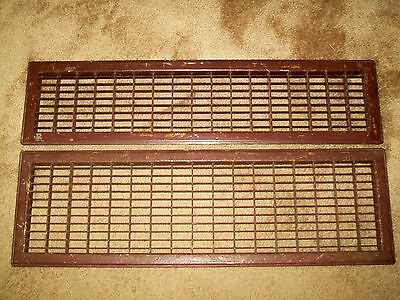 2 Lg. Vintage Air Return Grates Grills Registers Vents Architectural Steampunk