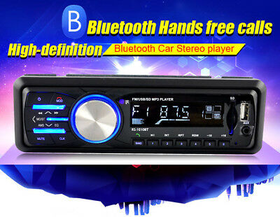 Car 1-DIN Bluetooth Stereo Music MP3 Player Hands-Free Call FM Radio AUX USB SD