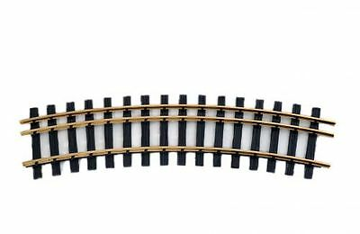 Zenner Kit 1 bent Three-rail track, Gauge 2(64mm)+ G Scale, 22,5°, R=1200mm