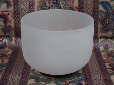 Solfeggio New Frosted Quartz Crystal Singing Bowl 8'' G# Note Zeal Hakra 417Hz