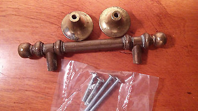 Brass Vintage Drawer Pulls Three 1 pull 2 knobs