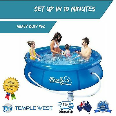 NEW Family Fast Set Up Above Ground Swimming Pool Inflatable Spa Filter Pump