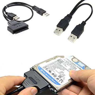 Hard Disk Drive SATA 7+15 Pin 22 to USB 2.0 Adapter Cable For 2.5HDD Laptop Deft