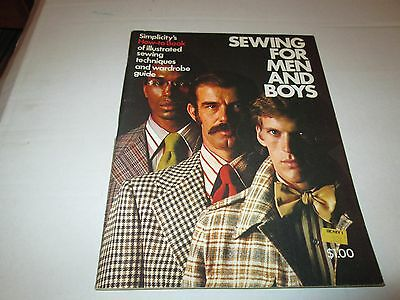 Sewing for Men and Boys - Simplicity Pattern publication 1973 vintage fashions
