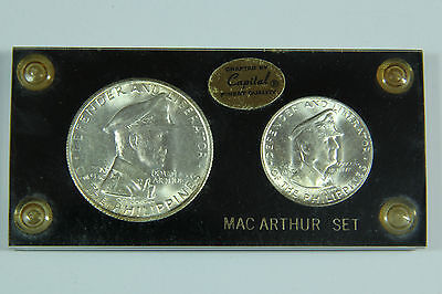 1947 S Philippines MacArthur Set One Peso Fifty Centavos