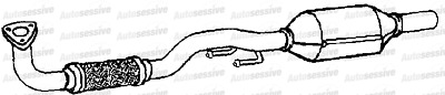 Seat Ibiza 1.6 Bts Coupe 08-11 Exhaust Front Pipe And Catalyst Underfloor Part