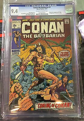 CONAN #1 CGC 9.4 off-white/white pages CANADA SELLER