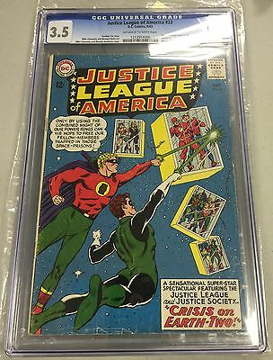 JUSTICE LEAGUE OF AMERICA #22 CGC 3.5 off-white / white pages CANADA SELLER