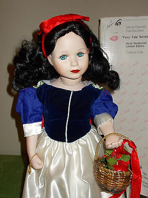 "Marie Osmond Snow White Fairy Tale 18"" Porcelain Doll"