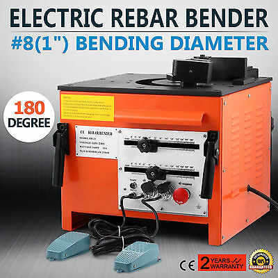 Electirc Rebar Steel Bender Bending Pipe Tube Metal Bends Adjustable Steel