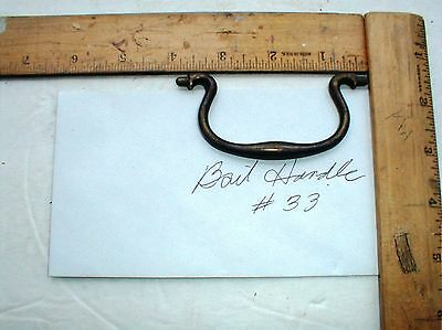 Antique Brass Drawer Pull Bail Handle Only #33  Parts Salvage